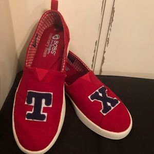 Bobs Skechers Texas slip on shoes Red size 9.5M
